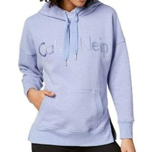 Calvin Klein Blue Embroidered Hoodie Sz. Small